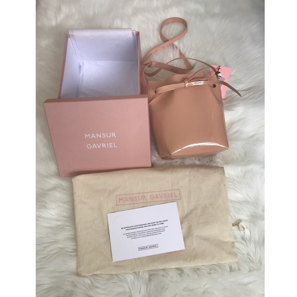 Mansur Gavriel Mini Mini Bucket Bag Patent Leather